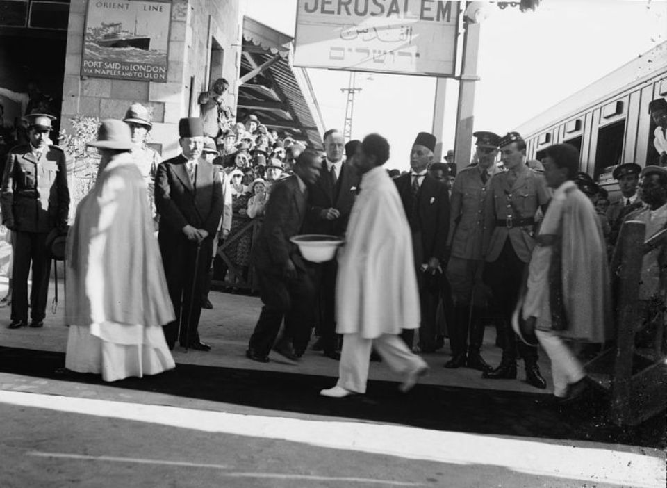 Haile Selassie arrives in Jerusalem